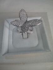 Anello donna farfalla argento 925,zirconi bianchi idea Natale mis 16 Ring Silver