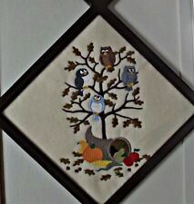 thanksgiving decor,wall decor,thanksgiving owls,,holiday decor