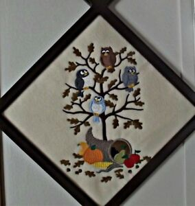 thanksgiving decor,wall decor,thanksgiving owls,,holiday decor