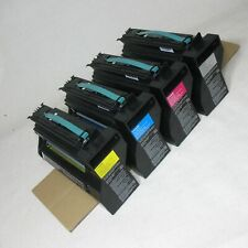 LEXMARK C782 C780 X782 TONER SET BLACK MAGENTA CYAN YELLOW VERY LOW USE