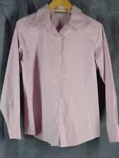 Eddie Bauer Womens Medium Wrinkle Resistant Pink Long Sleeve Oxford Style Shirt