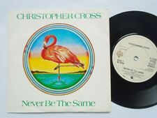 """Christopher Cross Never Be The Same 7"""" Warner Bros K17736 EX/EX 1982 picture sle"""