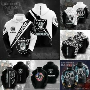 Las Vegas Raiders Hoodie Pullover Hooded Sweatshirt Fans Sportwear Jacket Gift