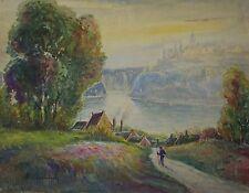 Jules GUIBOUD (1862-1933) Ecole Murol Auvergne Victor Charreton impressionnisme