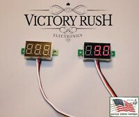 2x Red LED Voltmeter Module DC 0-100V 3-Wire Panel Monitor Battery USA