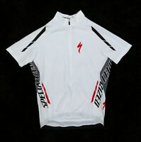 Women's Specialized White Short Sleeve Zip with Back Pockets Cycling Jersey XL