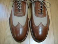LITE WEAR! Men's Shoes JOHNSTON & MURPHY Wing Tip Oxfords Sz 9 M Brown Leather