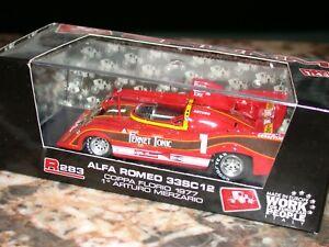 Véhicule miniature auto 1 : 43  ALFA ROMEO 33SC 12  COPPA FLORIO 1977         BR