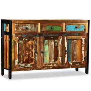 vidaXL Solid Wood Sideboard Reclaimed 120x35x76cm Storage Cupboard Lowboard