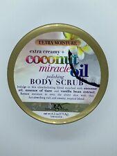 OGX BODY SCRUB COCONUT MIRACLE OIL 6.2 Ounce JAR