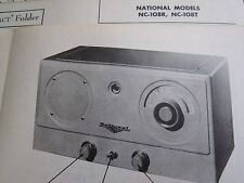 NATIONAL NC-108R & NC-108T RADIO RECEIVER PHOTOFACT
