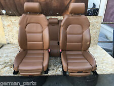 AUDI A6 C6 LEATHER SEAT SEATS SET FRONT REAR LEFT RIGHT BROWN COLOR OEM