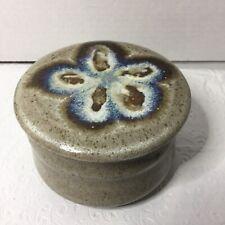 Butter Bell Crock Handmade Floral Ceramic Stoneware Signed Large Vintage 1984