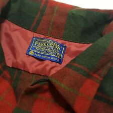 Vintage Pendleton Wool Board Shirt Surf Beach flap plaid Loop collar shirt jac