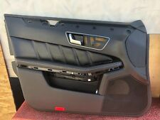 31K MERCEDES W212 E63 AMG SPORT DRIVER NAPPA LEATHER DOOR PANEL ASSEMBLY OEM