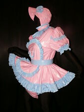 XL* pvc dress with sewn in diaper spead panty*kleid & Spreizhose with cap