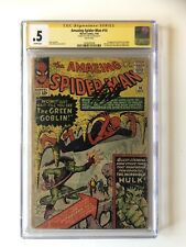 Amazing Spider-Man #14 CGC .5 SS SIGNED STAN LEE 1st Green Goblin!