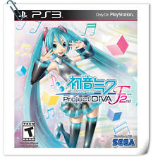 PS3 Hatsune Miku Project Diva F2 ENG / JAP SONY PlayStation Music Games Sega