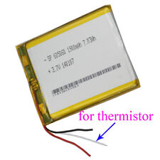 3.7V 1900mAh 3 wires thermistor Polymer Li Battery 605060 For GPS Tablet PC mp4