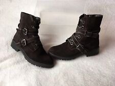 Ladies Size 5 Military Style Ankle Boots By Mantaray ⭐️Great Condition ⭐️⭐️