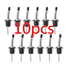10 Pcs Liquor Spirit Pourer Flow Wine Bottle Pour Spout Stopper Stainless Steel