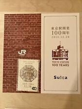 Japan Railway Suica Card Tokyo Station 100Years Edition