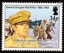 La seconde guerre mondiale Le Général Douglas MacArthur Retour aux Philippines & Péniche débarquement cachet