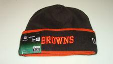 Mens Cleveland Browns New Era On-Field Tech Sideline Cuffed Knit Hat Cap NFL