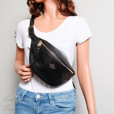 NWT Coach F48738 Pebble Leather Belt Bag Fanny Pack in Black