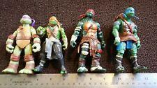 TMNT Lot of 4 Viacom action figures Playmates TEENAGE MUTANT NINJA TURTLES