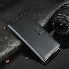 Luxury Genuine Real Leather Wallet Flip Case Cover For Sony Xperia Models
