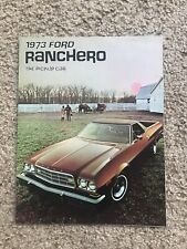 1973 Ford Ranchero  original dealership sales literature.