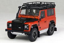 1:18 Kyosho Land Rover New Defender 90 Heritage 2007 Orange Met Black 08901P