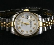 Rolex Ladies Datejust 79173 18k And Stainless Steel Diamond Dial Wristwatch