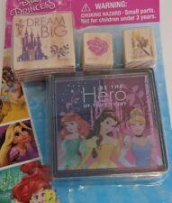 Disney Princess Stamp Set w/ 3 Stamps & 1 Ink Pad DREAM BIG for Crafts Scrapbook