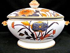 Victorian 1890's painted tureen large covered casserole