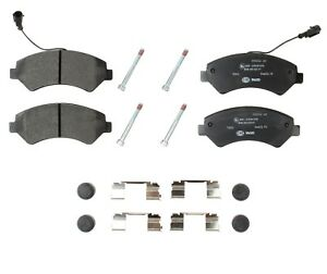 For Ram ProMaster 2500 3500 Front Brake Pads with Wear Sensor & Caliper Screws