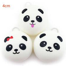 2 Pcs Cute Panda Cell Phone Straps Keychain Bag Charms Bread Buns Squishy Toy