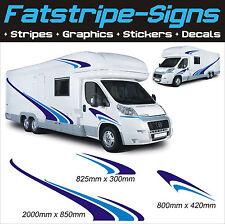 Autocaravana Vinilo gráficos Stickers Calcomanías conjunto Camper Van Rv Caravan Horsebox