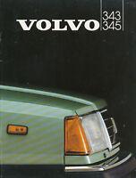 Volvo 343 345 Prospekt 1982 9607-82/2 brochure Autoprospekt broschyr brosjyre