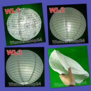 Lampenschirm 40cm Ø Papier Lampe China Papierlampe weiss NEU
