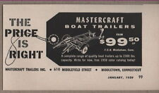 1959 Vintage Ad Mastercraft Boat Trailers Middletown,Connecticut