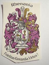 Darmstadt - Corps Rhenania - Wappen / Studentika
