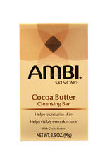 AMBI SKINCARE COCOA BUTTER CLEANSING BAR SOAP 3.5 OZ.