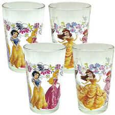 NEW Cute Disney Princess Collectible 8 oz Juice Glasses (Set of 4) NIB