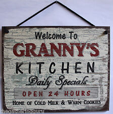 Sign Granny Granny's Kitchen Food Cooking Grandma Bake Cookies Love Decor Vtg