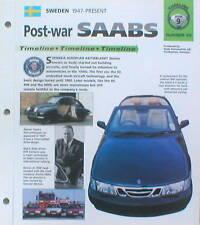 SAAB Timeline History Brochure: 99,92,TURBO,SONETT,9000,AERO,9-3,9-5,900,S,V4,