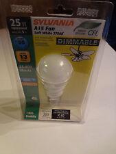 Sylvania A15 Fan  25W   Dimmable  Soft White Bulb 2700K