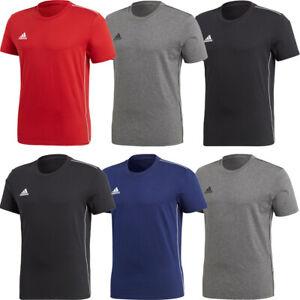 Adidas Mens Cotton T Shirts T-Shirt TShirt Core 18 Crew Top Short Sleeve Tee