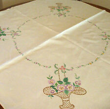 Unbranded Embroidered 100% Linen Tablecloths